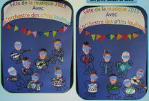 Bricolages pour la fête de la musique par les p'tits loulous de Gaëla / Bricolages et activités des enfants/assistante maternelle