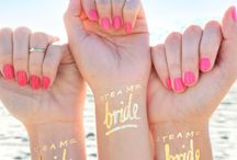 Wedding Bridal Party / Bridal tattoo, team bride, bride tribe