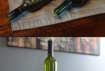 usando garrafas