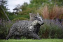 Badger - sculpture / Bronze wildlife sculpture by Hamish Mackie, signed, dated and numbered limited edition