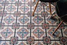 Tiling:  floor and walls