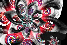 My designs on product like Fabrics, Wall papers, gift wraps... / http://www.spoonflower.com/profiles/izcolorfuluniverse