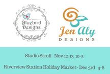 Studio 256: Bluebird Designs and Jen Aly Designs / This is all about the jewelry and happenings for Studio 256 in the River Arts District Asheville.
