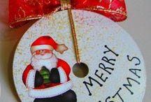 Natal enfeites em reciclaveis