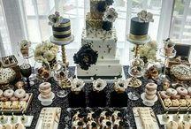 gold/silver/black theme party