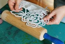 Stencil on rolling pins