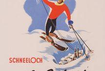 Gamle reiseplakater fra Østerrike