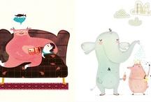 Dulce Ilustración / Ilustraciones y dibujos de inspiración naif