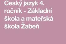 ČESKÝ JAZYK 4.TŘÍDA