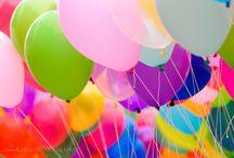 Ballons and Umbrella
