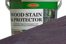 Protek Wood Stain & Protector / A multi-purpose and versatile quality wood stain coating that weatherproofs and protects all varieties of outdoor timber surfaces. This range is available in over 30 inspiring colours and complimentary shades that rejuvenate old and tired looking timber, giving an all year round colour that is strong and lasts. It is so good it will even adhere to masonry and terracotta pots.