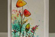 Brusho cards