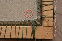 Mursteinssting.Brick stitch. / Teknikk og mønster. Techiques and patterns.