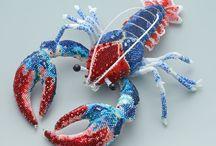 Beaded Creatures / koralikowe zwierzątka i insekty / by Jola Kamieńska