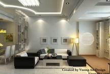 Home - Interior Design / Dự án thiết kế nhà và căn hộ http://www.vinacolors.com