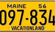 Maine License Plates / Maine License Plates