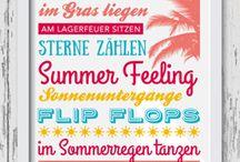 Free printables / summer / Hier findest du #Freebies mit dem Thema #Sommer