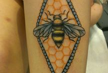 bee ink / I've seen a remarkable number of bee tattoos this year... beautiful artwork all around