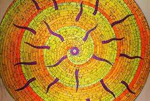 Artiste Olivier Baisnée. / Artiste libre et électron libre, il produit des peintures aux influences aléatoires et colorées.