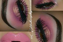 Make up / Maquillajes de día y de noche, en colores mate luminosos, distintos colores y texturas.