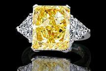 Yellow, Canary Simulated Diamond Rings