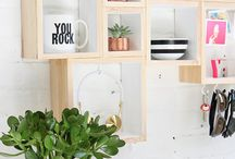Wall art and wall storage ideas and inspiration / everything that can be hung, painted,  or stuck to the wall