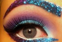 Glitter brows and eyes / Eye and brow make up