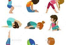 Kid yoga things