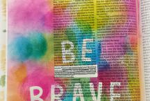 Bible Journaling / connect with God through chalking, drawing, and creating in your Bible.