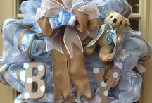baby shower decor/ wreaths