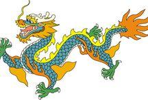 Asian Dragons / Esimerkkikuvia 3-luokan kuviksentunnille