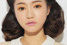 Orange as eyeshadow