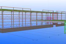 """""""Bodegas Yuntero"""" / Obras de ampliación en Manzanares, Ciudad Real.  La ampliación constará de 1.800 m2 de estructura metálica atornillada, con pórticos de 16 mts. de altura. También se renovarán las fachadas existentes."""