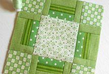 Čtverce na sešívané deky