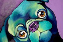 Animal-Art: Canine Canvas / by Steph Orris
