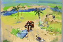 Terrarium-land / Art of  3d Indie game.