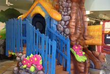 Fairhaven Church, Centerville, OH / A phenomenal design that incorporates a fun children's theme with an incredible indoor play structure.  Worlds of Wow! is the only team that provides both theming and indoor play.