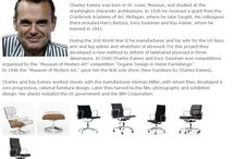 Bauhaus Designer - Charles Eames / Charles Eames wurde in St. Louis, Missouri, geboren und studierte an der dortigen Washington University Architektur.  1936 erhielt er ein Stipendium der Cranbrook Academy of Arts, Michigan, an der er später lehrte. ◥◣◥◣◥◣  Charles Eames was born in St. Louis, Missouri, and studied at the Washington University architecture. In 1936 he received a grant from the Cranbrook Academy of Art, Michigan, where he later taught.
