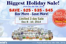 Biggest Holiday Sale!  Saving On Vitamins & supplements