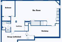 Basement Design. / Basement layout and design.
