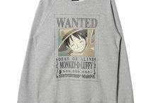 ANIMATION 'ONE PIECE' / onepiece, animation, crewneck, de12, de12look, collaboration