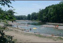 Plage rivière lac