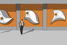 'Going Places' (working title) / Triptych abstract sculpture design for corporate lobby proposal