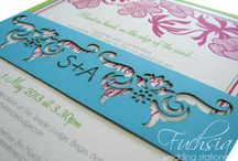 Our Wedding Invitation Designs / Wedding invitation ideas from Fuchsia Wedding Stationery Design. Contact us for unique trend-setting designs