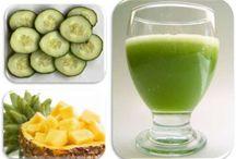 comida e sucos saudável