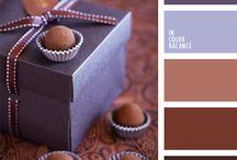 Кофейный и шоколадный цвет
