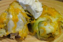 Cabbage enchiladas / by Connie Burgdorf
