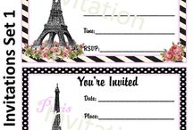 PARIS / Party invitation / by Rissa Miller