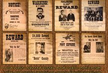 Wild West most WANTED posters