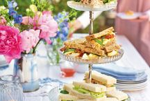 British afternoon tea / Join us in wishing for the British summertime to arrive with these quintessentially British afternoon tea recipes. From iced tea to savoury scones, these treats will make you smile, rain or shine.